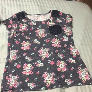 Floral design shirt